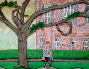 Girl on swing, Savannah