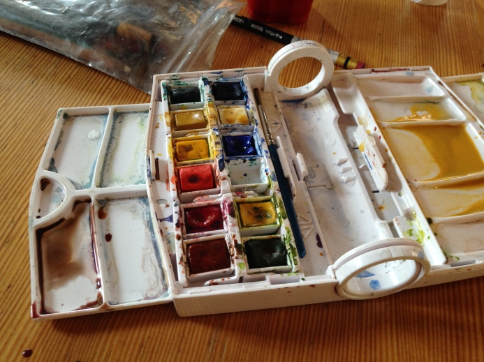 My watercolor set that travels well