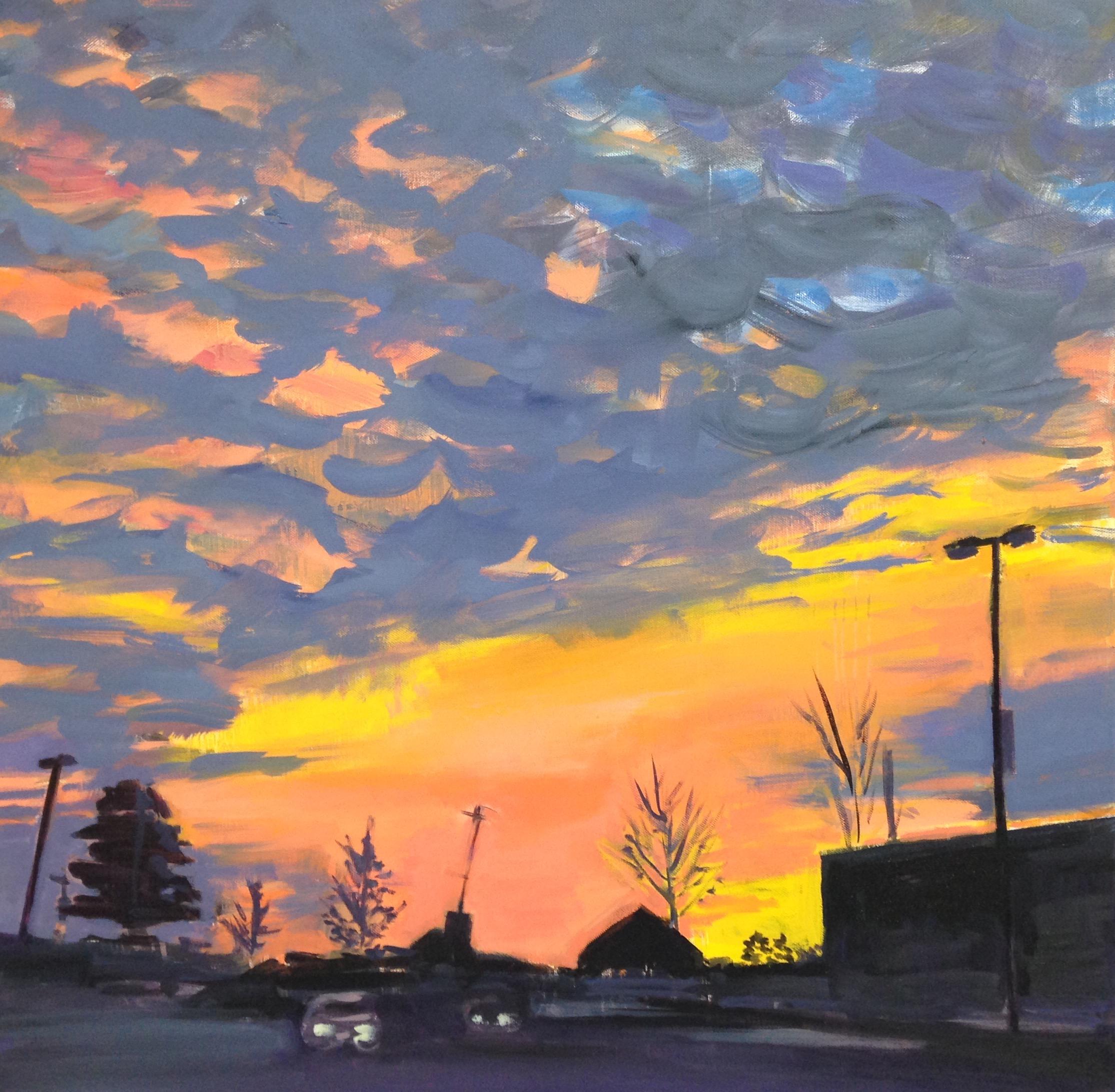 Chamblee Sunrise, oil on canvas
