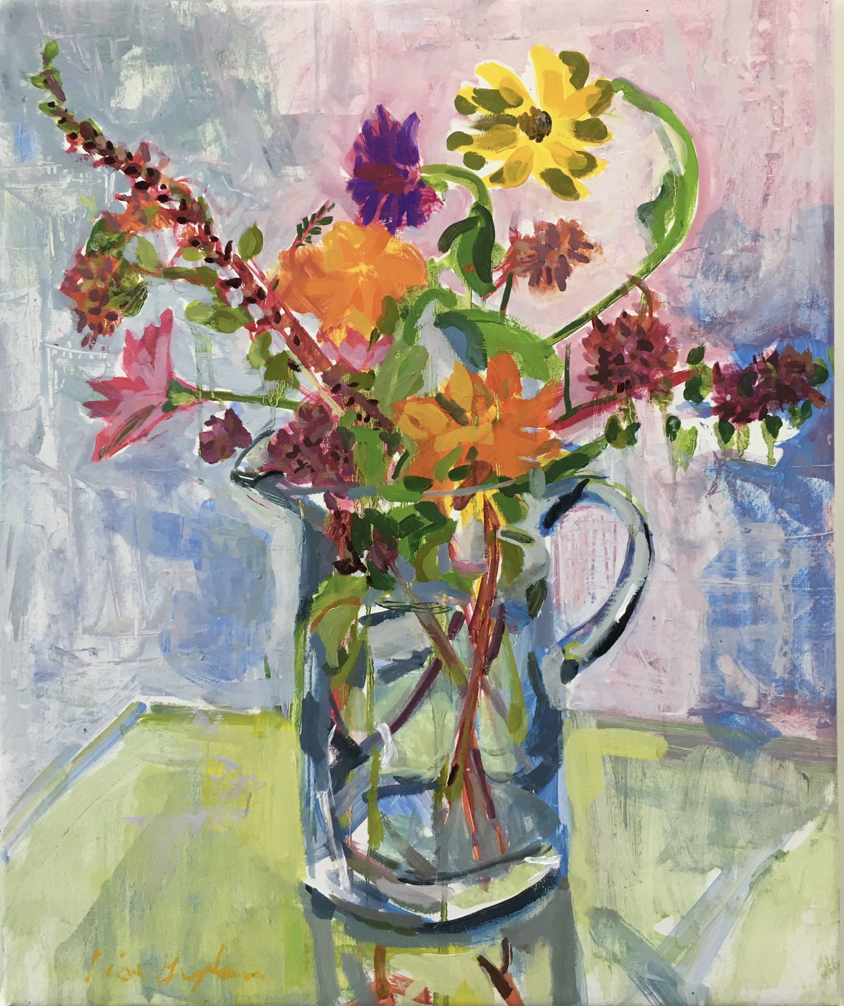 Bouquet in Tall Vase